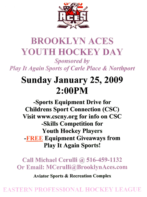Brooklyn Aces Youth Hockey Day